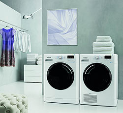 Pračka a sušička nad sebou